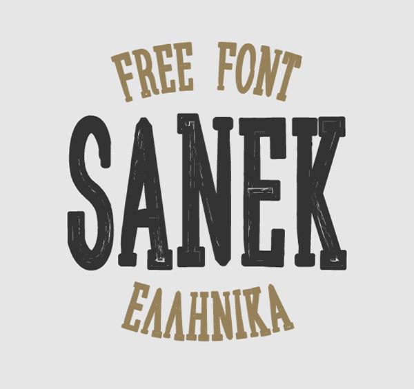 Sanek Free Typeface