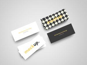 Slim Business Card Mock Up 02