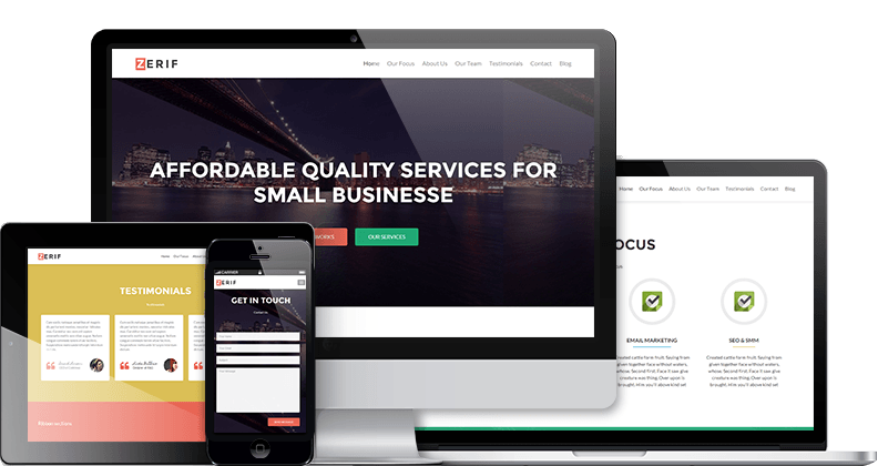 Zerif Lite : Free One Page WordPress Theme