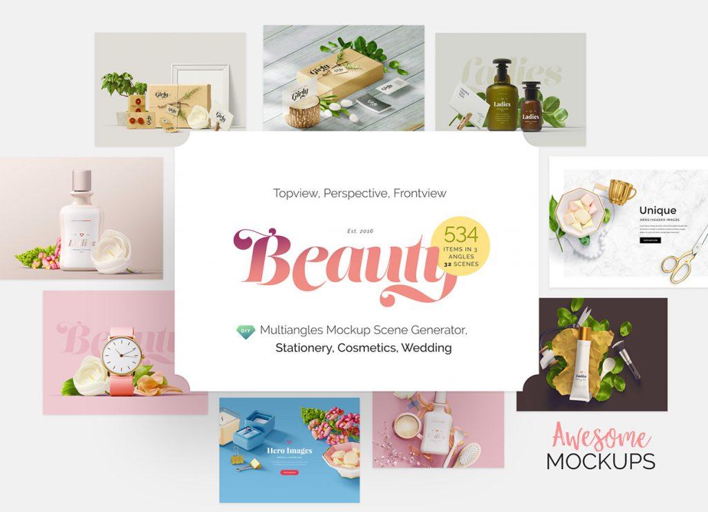 beauty mockup free sample