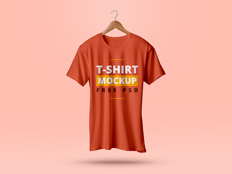 Realistic fully editable T-Shirt Mockup PSD
