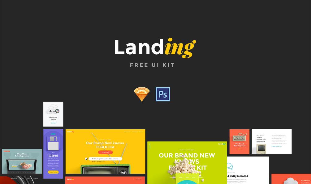 Landing 1.0 Free UI Kit