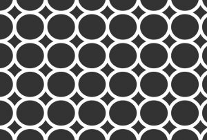Black-and-white-circles-pattern