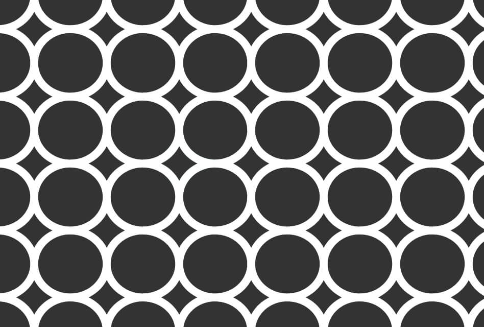 Black-and-white-circles-pattern