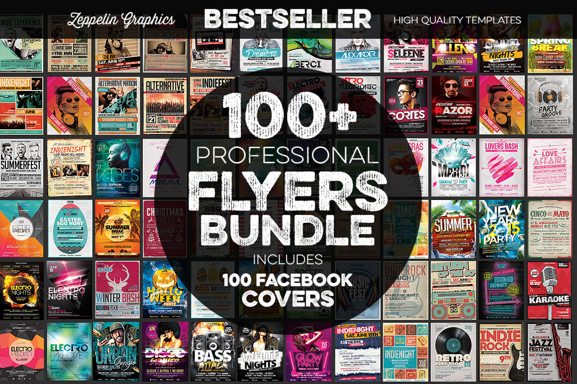 95+ Flyer Templates + Facebook Covers