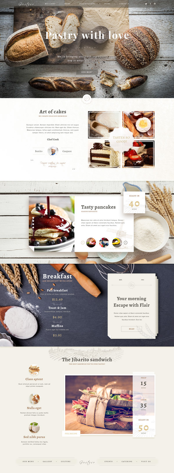 Free Bakery PSD Web Template 01