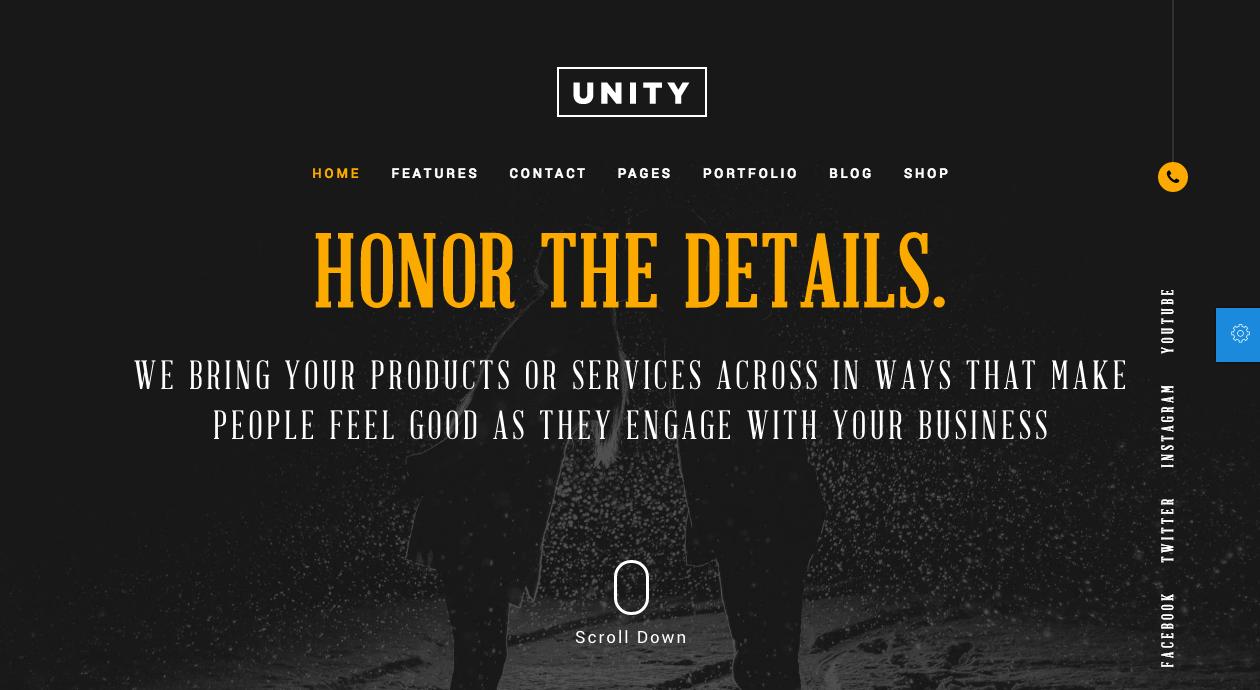 Honor – Unity Free PSD