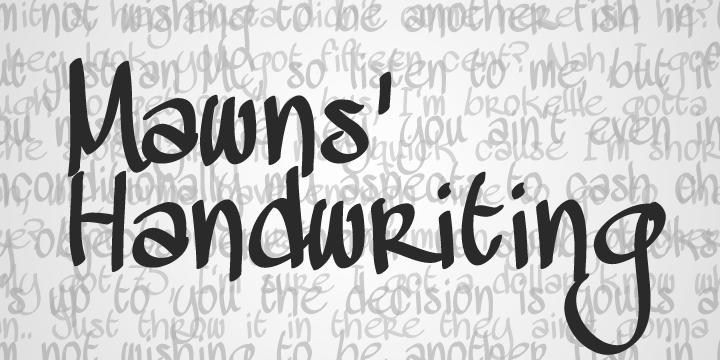 mawns_handwriting