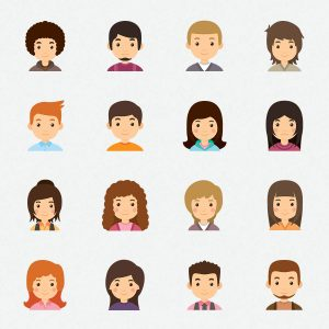 young-avatar-collection-icons