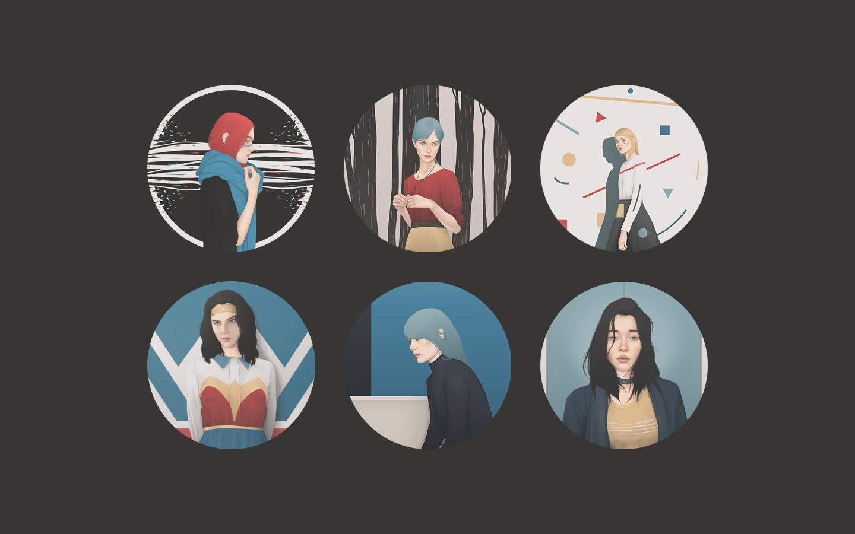 Yuschav Arly's Beautiful Portraits Illustrations